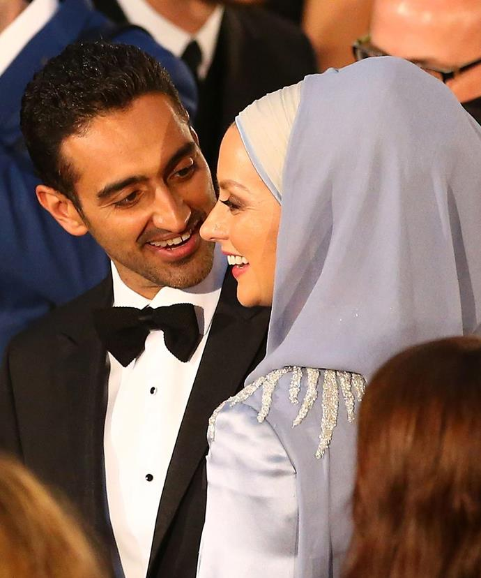 """""""She's sharper, wittier, funnier and infinitely more charming and likeable and I'm really glad she doesn't have my job because otherwise I'd definitely wouldn't have it."""" Waleed is besotted with his darling wife."""
