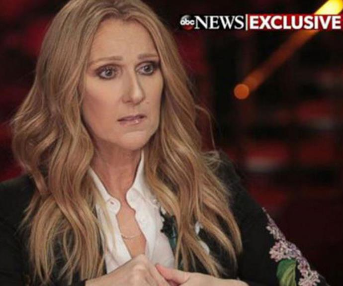 Celine gave an emotional interview to *ABC News* about life after her husband's death.