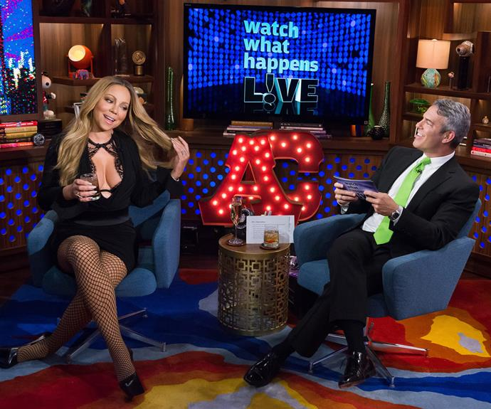 Mariah chanted 'We want prenup!' in an interview with Andy Cohen.