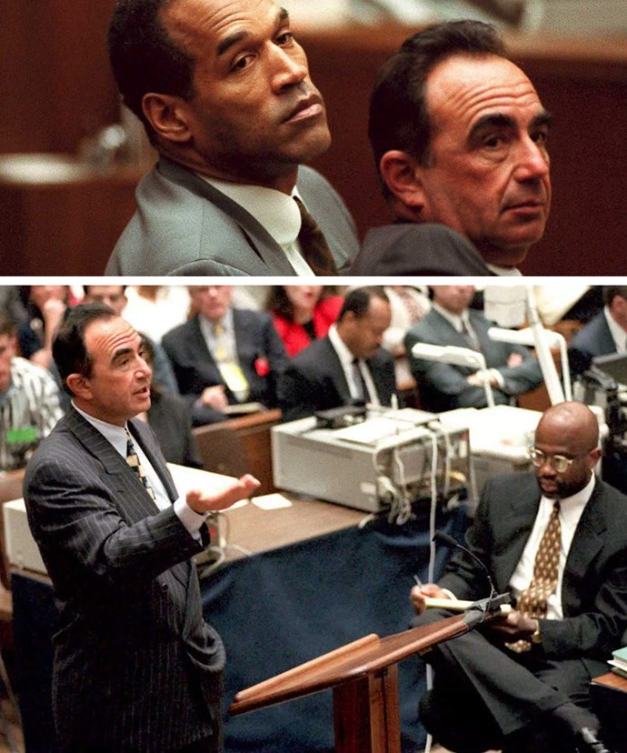 OJ during his notorious murder trial.