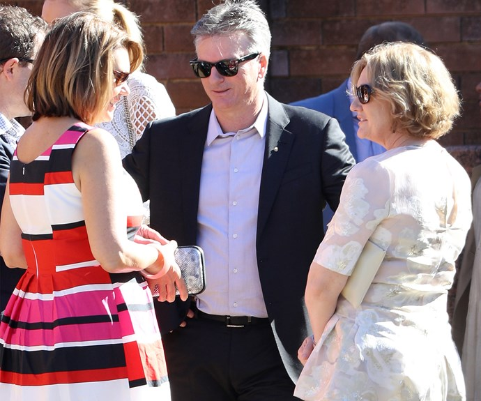 Cricketing legend Steve Waugh was there to help celebrate Glen's little one.
