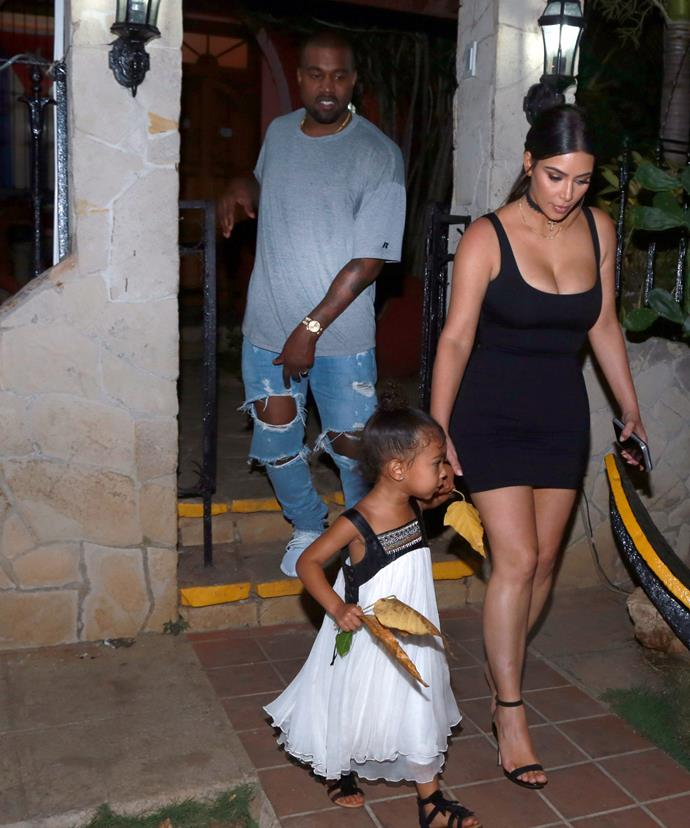 Kanye and Kim were spotted holidaying with North in Cuba recently.