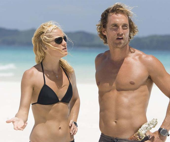 Kate alongside co-star Matthew McConaughey in the 2008 film, *Fools Gold*.