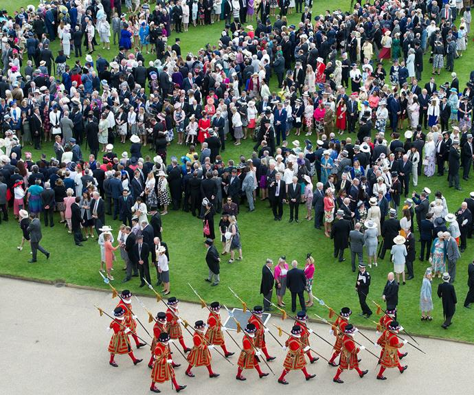 At a typical royal garden party, around 27,000 cups of tea, 20,000 sandwiches and 20,000 slices of cake are consumed.