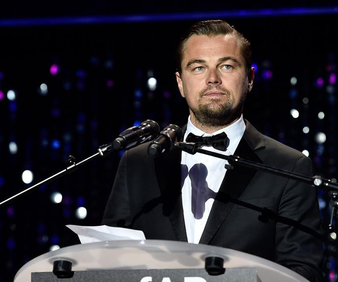 Fans say Leonardo should practice what he preaches after he took a private jet to and from the awards.