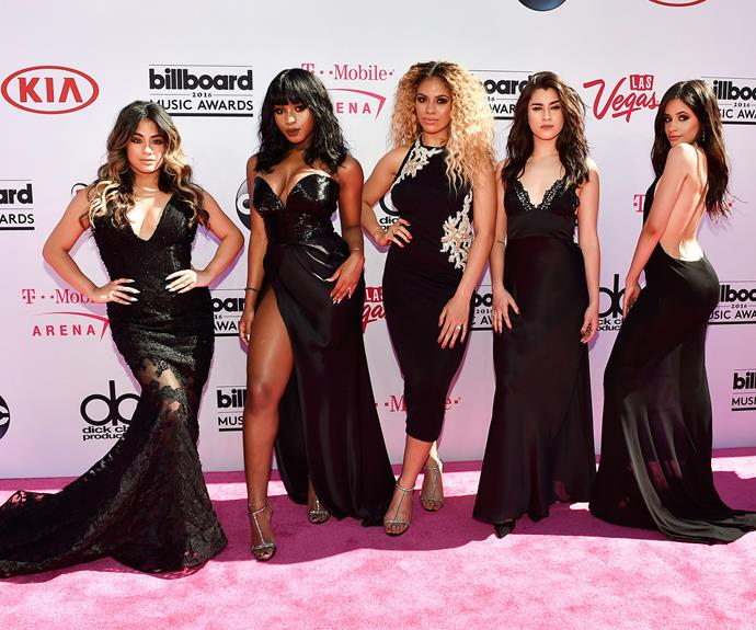 Fifth Harmony were in sync dressed in black.