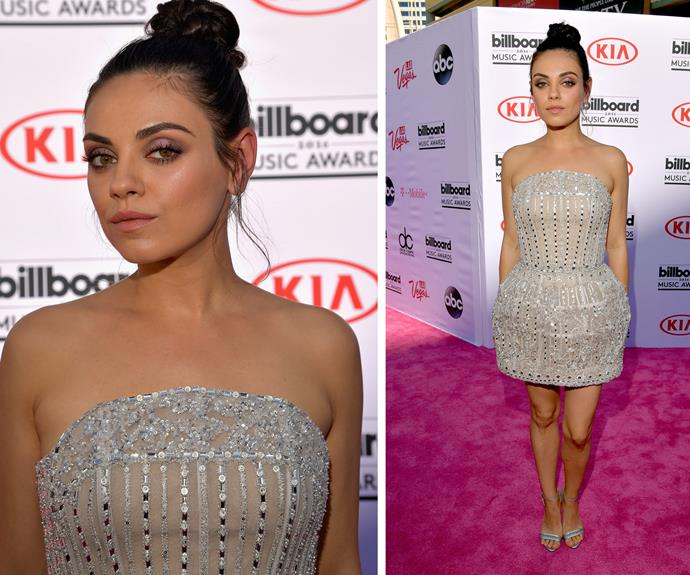 Mila Kunis looked stunning a sparkling number.