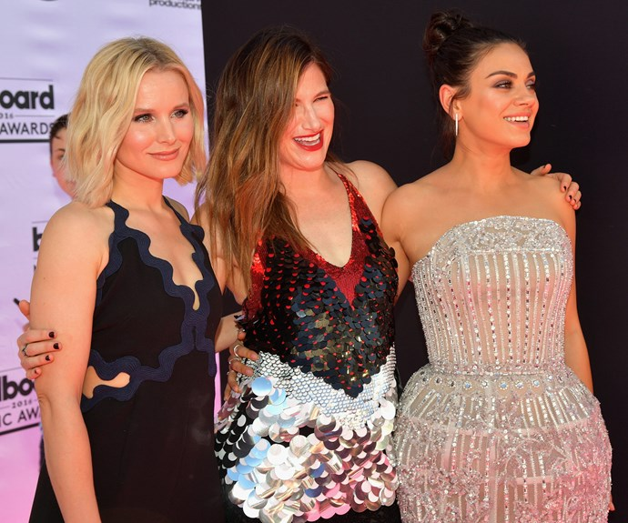 Less than a month ago, a pregnant Mila stepped out onto the red carpet with Kristen Bell and Kathryn Hahn for the 2016 Billboard Music Awards.