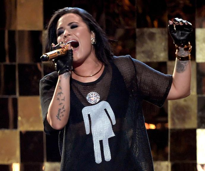 Demi Lovato oozes confidence in a sultry performance.