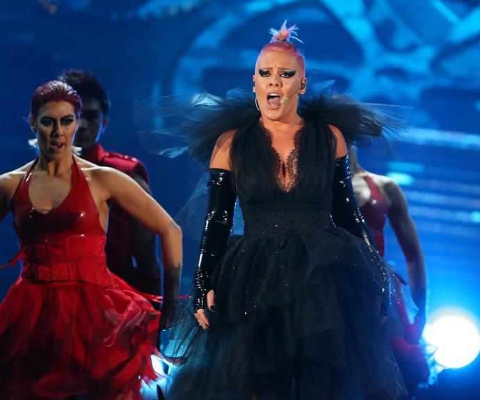 P!nk returns to the stage...