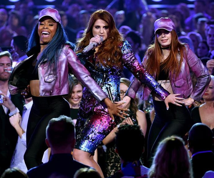 Meghan Trainor works up a purple dream as she performs her biggest hits including No and Thank You.