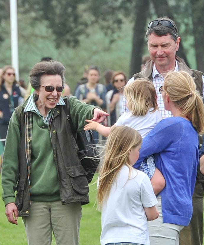 Princess Anne simply melts when she's around her granddaughter Mia.