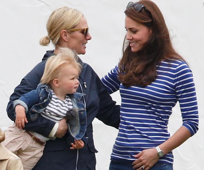 Catherine with her cousin-in-law, Zara.