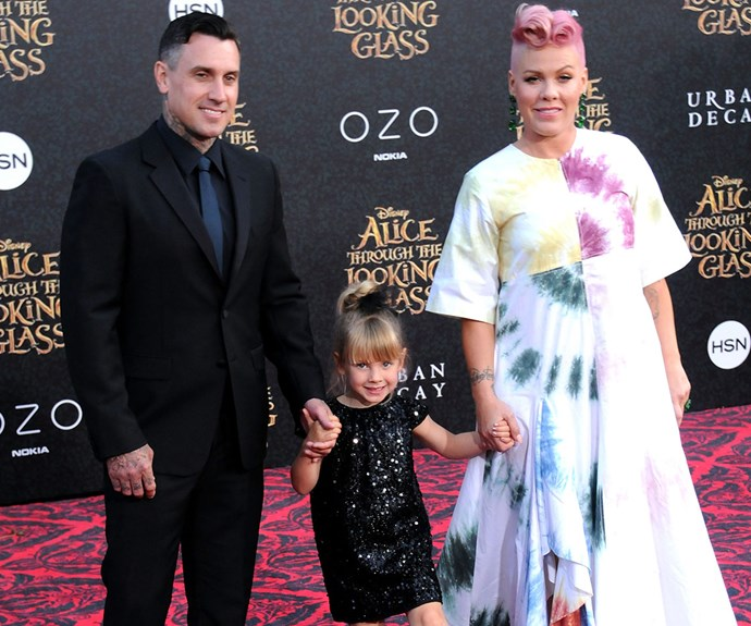 In May, Pink was joined by her husband Carey Hart and their darling daughter Willow for the premiere of Alice Through The Looking Glass at the El Capitan Theatre in LA.
