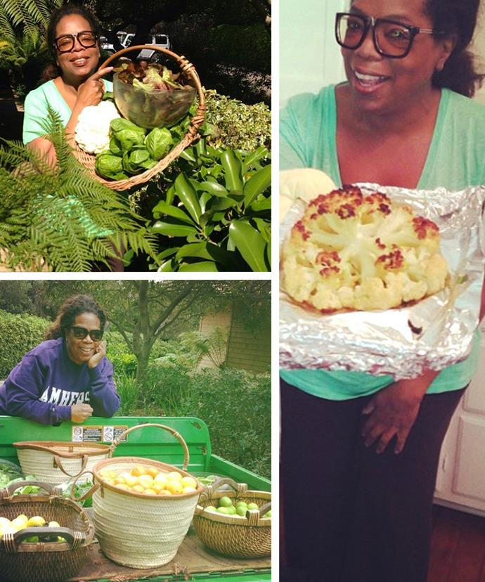 It TOTALLY helps that Oprah has her very own farm with delicious fresh produce at her doorstep.