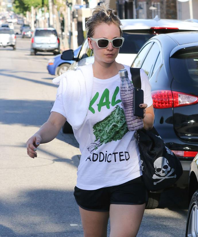 Adele isn't the only kale lover in Hollywood. Kaley Cuoco is also a self-proclaimed kale addict.