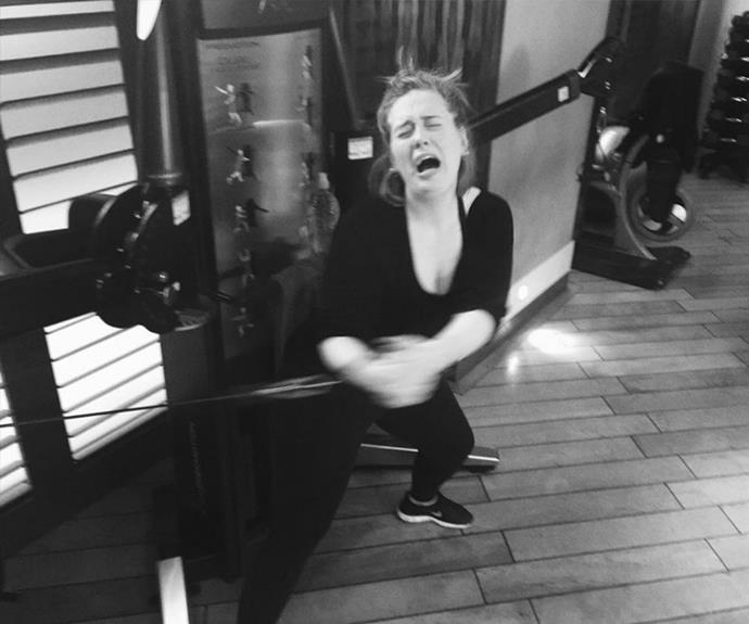 Exercise is NOT Adele's favourite thing to do...