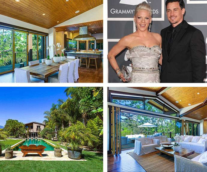 Pink and husband Carey Hart are selling their $18 million Malibu Beach House. The summer shack boasts 6 bedrooms, 6 bathrooms and in Instagram-worthy pool.