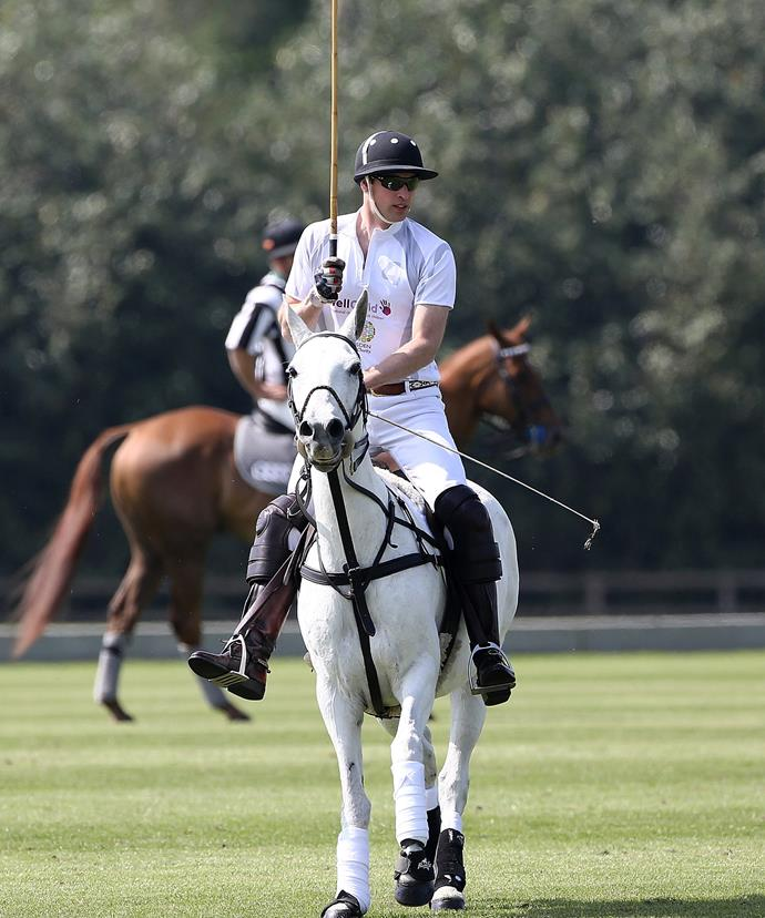 The polo match kicked off not long after.