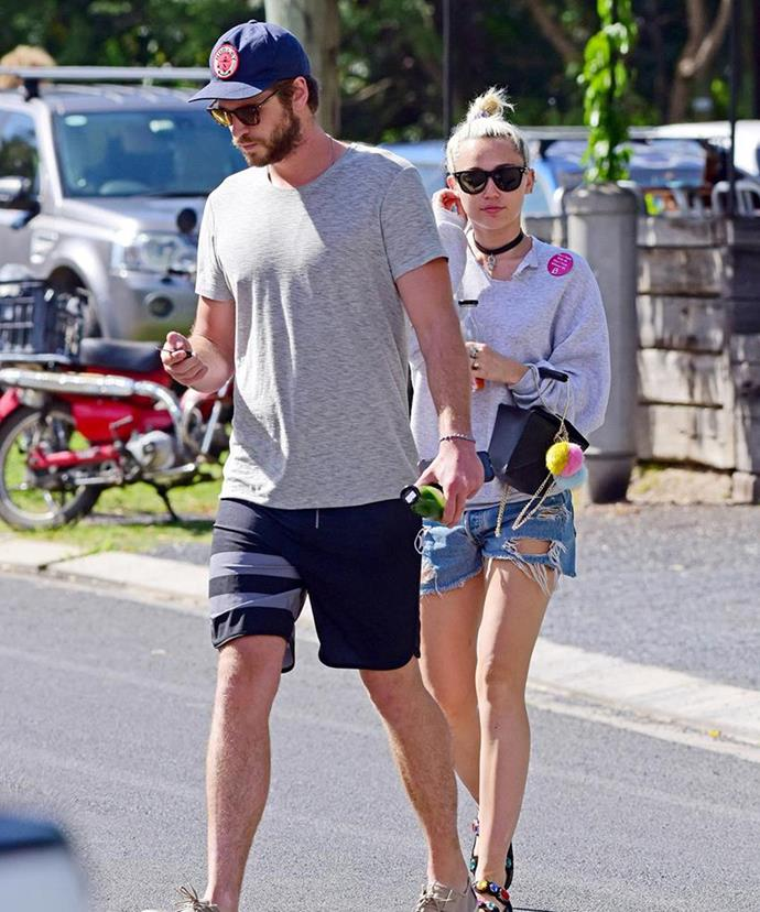 Miley was spotted spending time with the Aussie actor and his family in Byron Bay earlier in April.