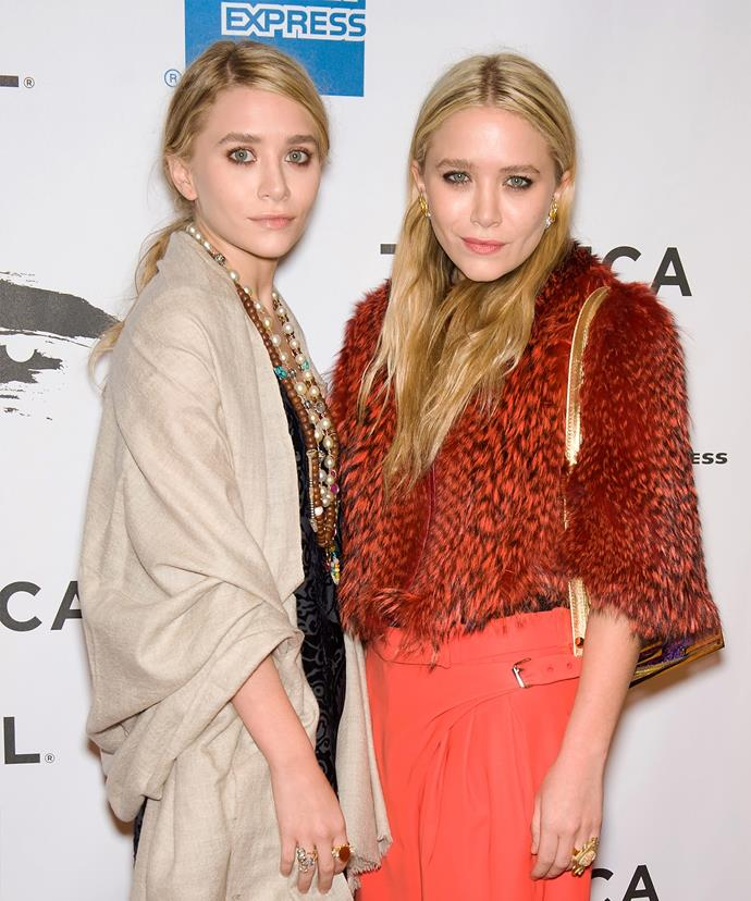 The Olsen twins, although stunning, never seem to stand straight.