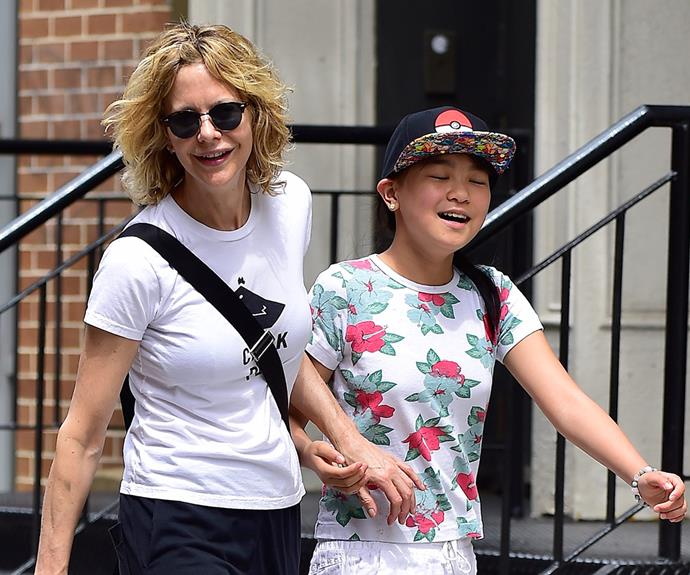 "Meg Ryan enjoyed a stroll around New York with her 12-year-old daughter, Daisy True Ryan, on May 30. ""She's very smart and she's very generous. I love that she's funny. I love that,"" Meg proudly says of her daughter."