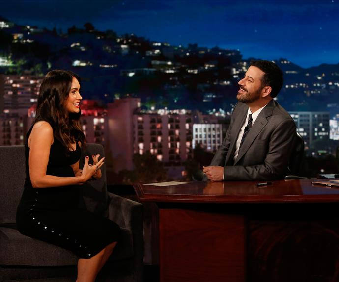 Megan dropped the odd revelation to Jimmy Kimmel and he couldn't help but laugh.