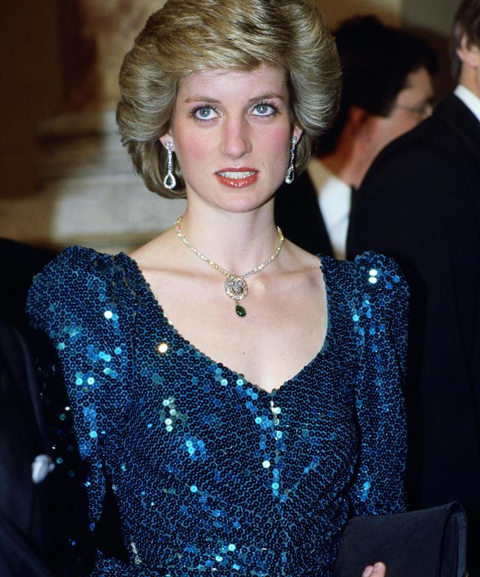 Diana, pictured in the dress which is up for acution, wore the stunning dress in Austria in 1986.