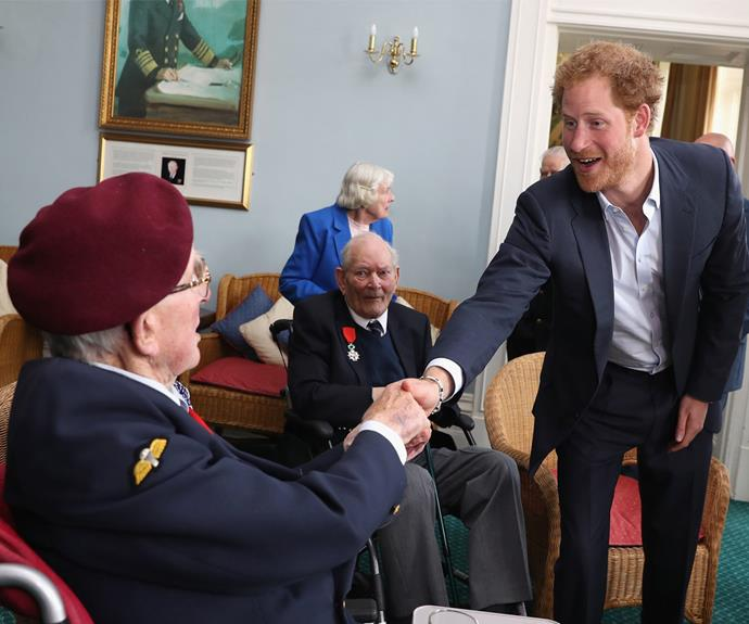 Ivor was having none of Prince Harry's cheek!