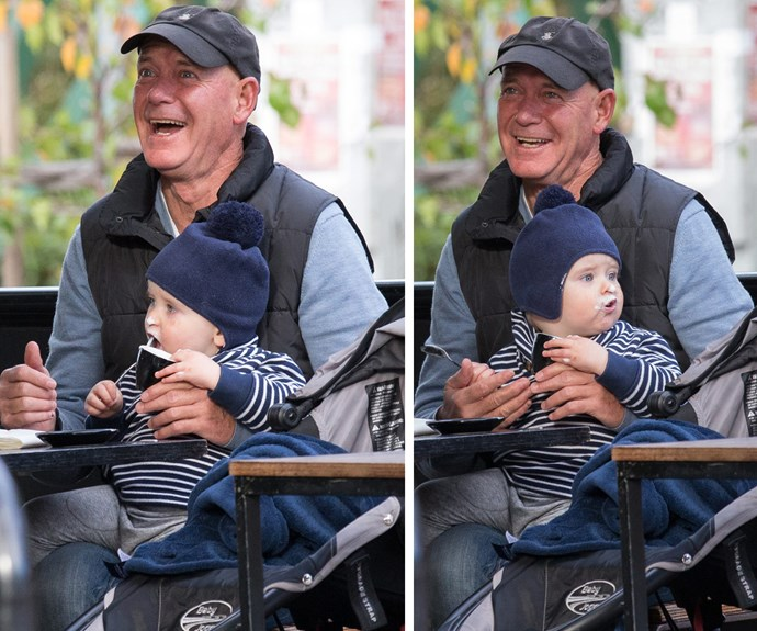 The actor melted our hearts when he was pictured enjoying a babyccino with his son Frederic, 17 months, in Melbourne recently.