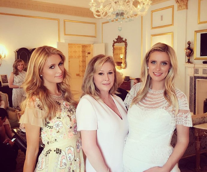 The Hilton girls can't wait to meet the newest addition.