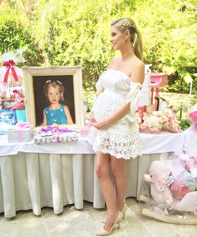 Last month, Nicky prepared for the arrival of her little girl with another baby shower in California – also hosted by her sister.