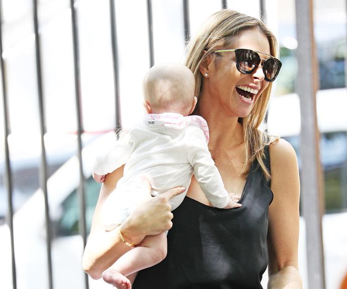 The 31-year-old couldn't wipe the smile of her dial. Candice welcomed her youngest daughter at the beginning of the year.