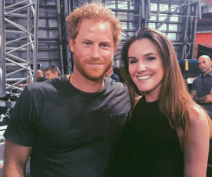 Prince Harry posed for a pic with Olivia.