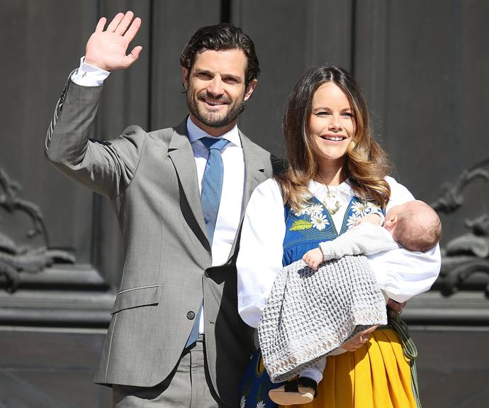 In June 2016, the royal trio made their first official outing as a family of three as they celebrated Sweden's National Day in Stockholm.