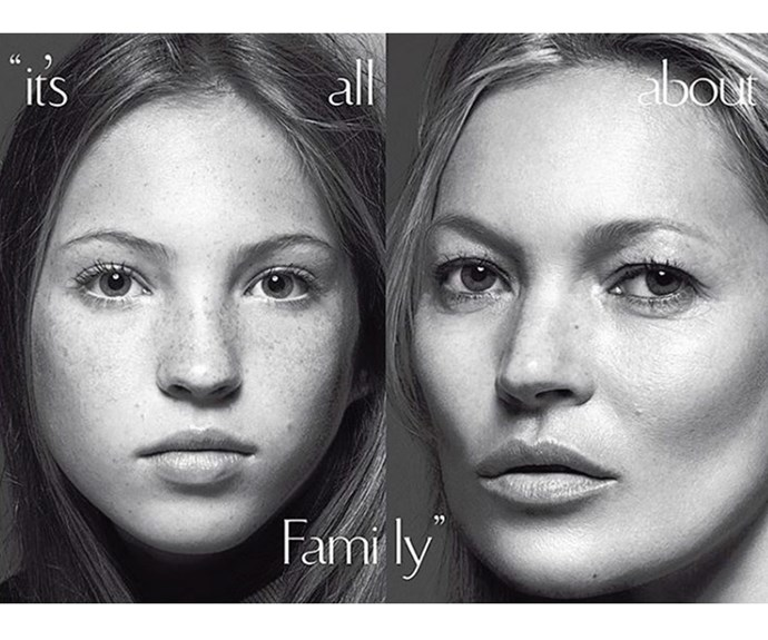 Even at age 13, their resemblance is uncanny. (Pic via/Vogue Italia)