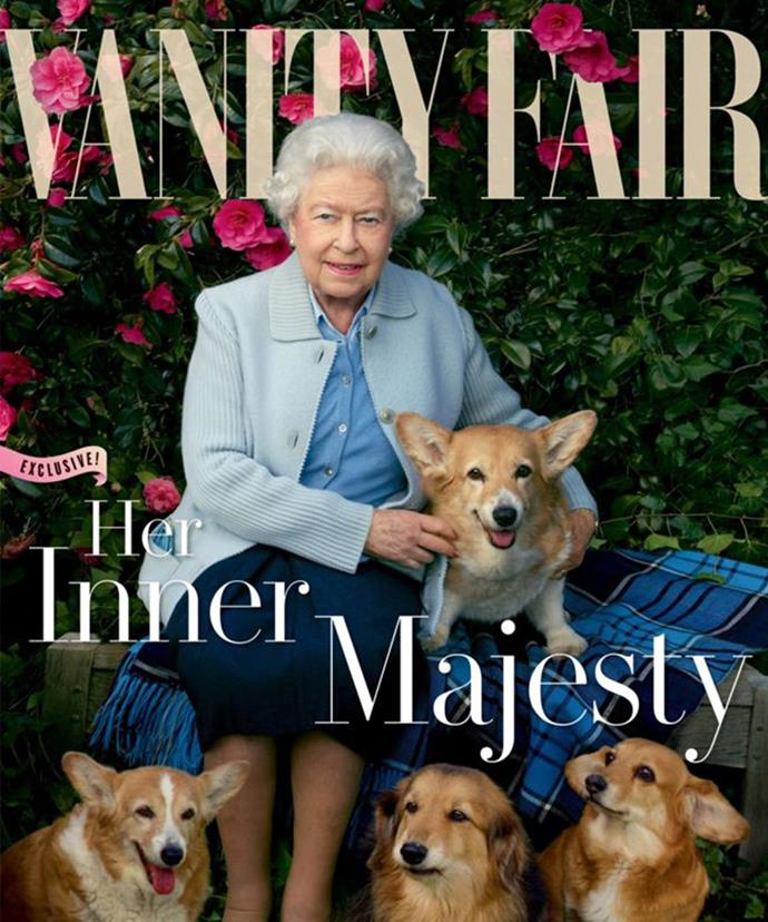 Her Majesty graces the summer issue of Vanity Fair for the second time.