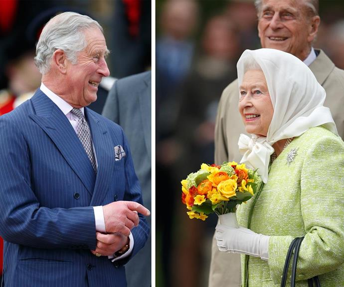 Birthday bash! Queen Elizabeth was joined by Prince Charles for a meet-and-greet on April 21 - her actual birthday.