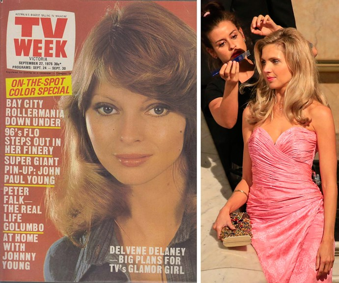 Meanwhile Nikki Osbourne (R) will take on '70s glamour gal Delvene Delaney, who starred in *The Paul Hogan Show.*