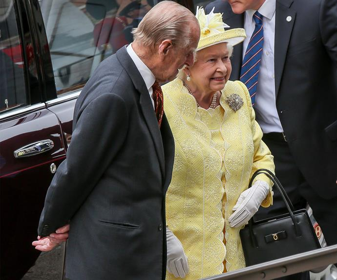 The Queen kicked off her 90th birthday weekend with a traditional service of thanksgiving on Friday, June 10. Of course her dedicated (and birthday boy) husband was there by her side.