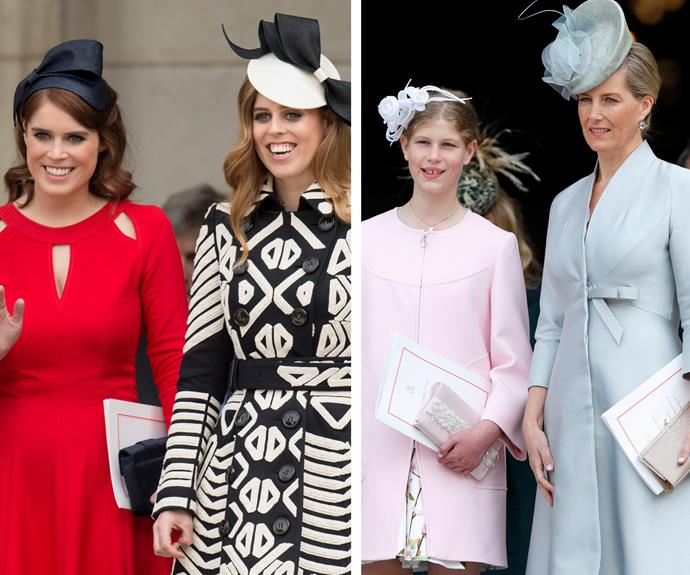Princess Eugenie and her sister Beatrice were all smiles, while cousin Lady Louise and her mum Countess Sophie of Wessex looked exceptional!