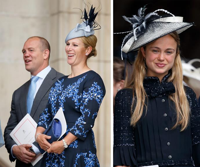 Zara and Mike Tindall show us the way couple's rock matching outfits while Lady Amelia Windsor looked oh so chic!