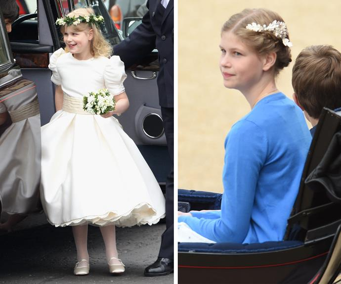 She stole the show as the sweet flower girl back in 2011 at Wills and Kate's wedding and today Lady Louise looks beautiful. Can you believe how graceful the 12-year-old is?