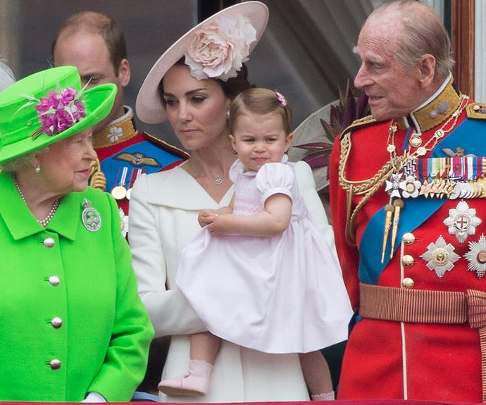Mum and dad couldn't be more excited for Princess Charlotte's big balcony debut.