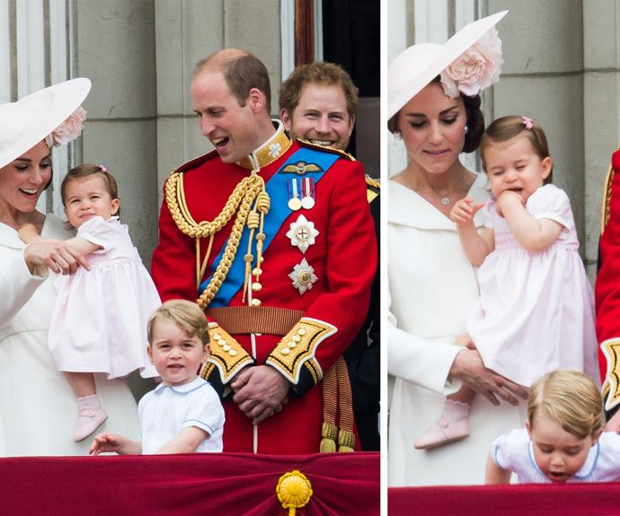 Even Kate and Wills had trouble not laughing at their cheeky monkey.