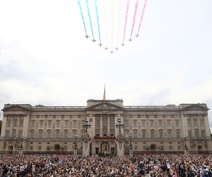 The colourful flypast was truly magnificent.