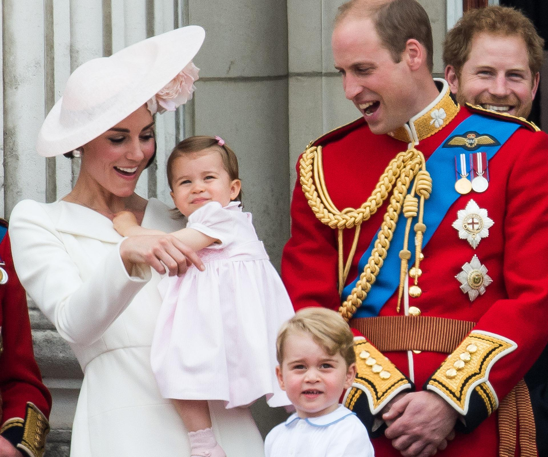 Seeing the dad in action at Trooping the colour melted hearts across all the lands