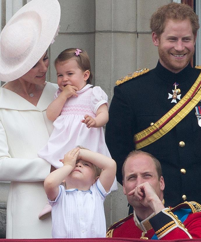 "Looks like even Prince George can't believe how ""feisty"" his sister is."