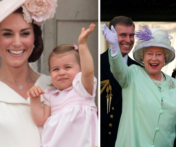 The tiny tot has one thing down pat, the Queen's royal wave.
