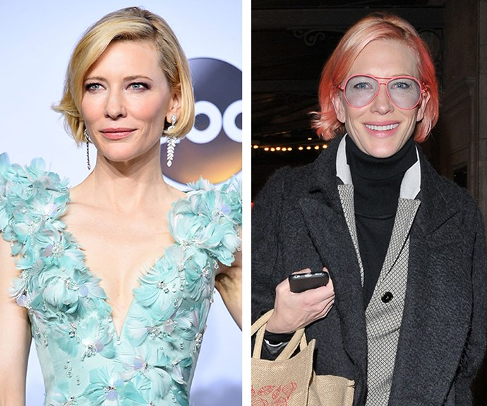 It would seem that pink is the new blonde for Cate Blanchett, who stepped out in London earlier this year rocking a hot pink bob.